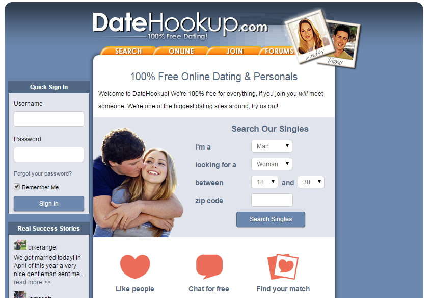 Free dating sites like datehookup